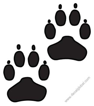 Foot Print Decals